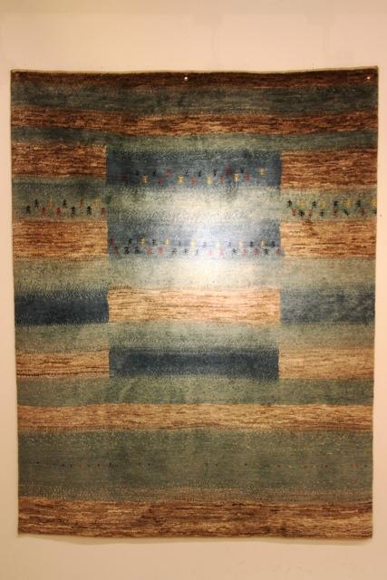 アートギャッベブルー+原毛150巾
