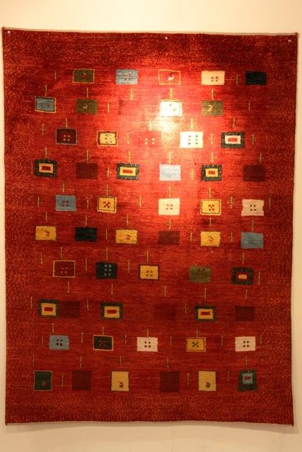 アートギャッベaka +赤150巾