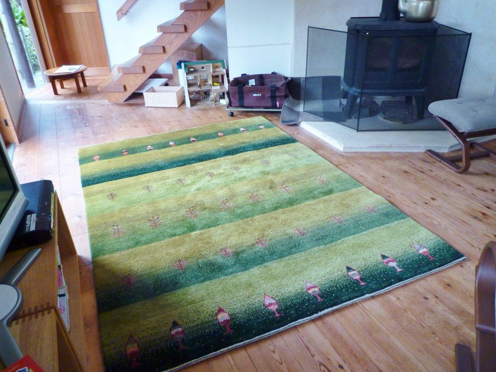 絨毯を敷く場所【アートギャッベを楽しもう】