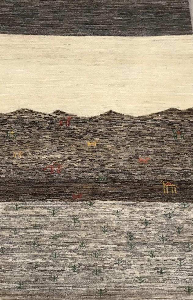 風景を織りあげたアートギャッベ