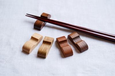 天然木箸置き