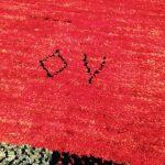 アートギャッベの織り子さんのサイン