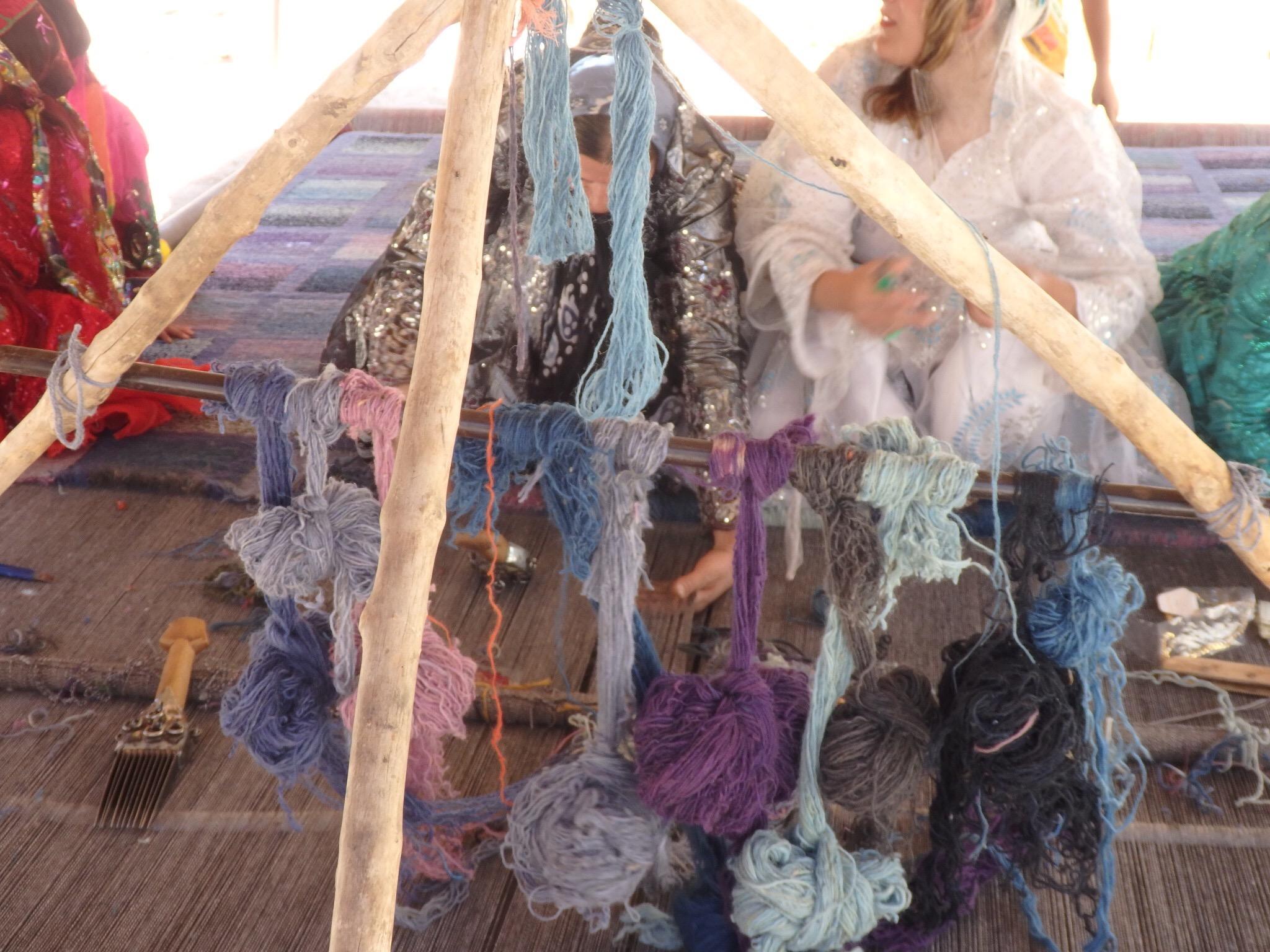 草木染めの糸の写真