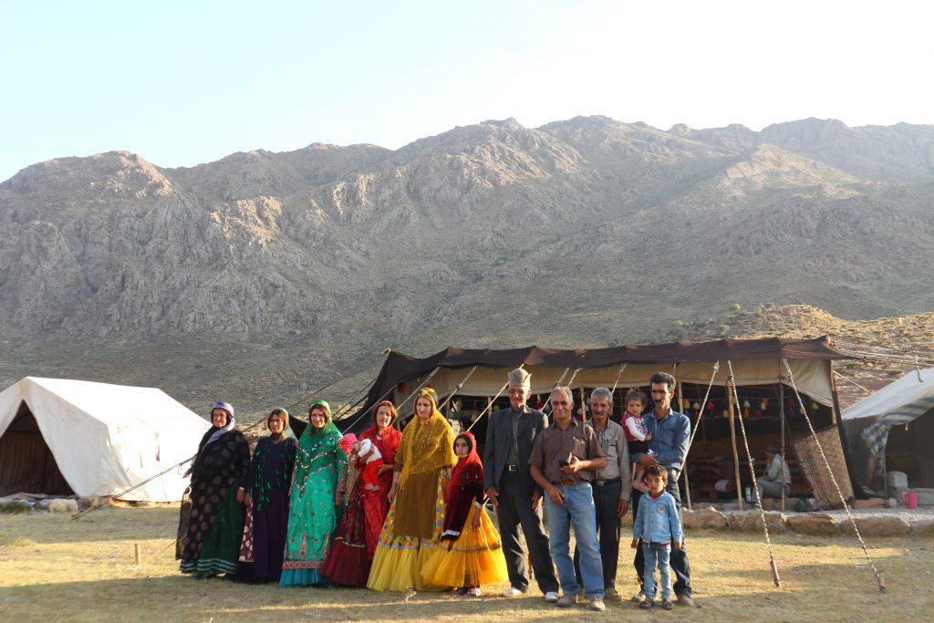 カシュガイ族の一家