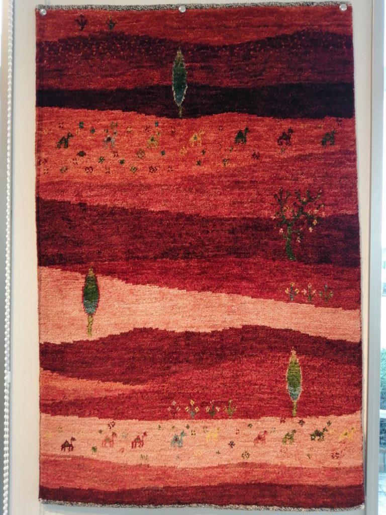 アートギャッベ風景画特集!滋賀県近江八幡市ピュアスタイル様でアートギャッベ展開催中